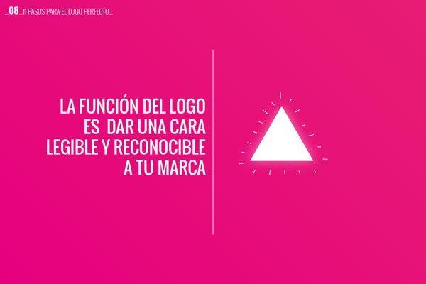 08 La función del logo es dar una cara legible y reconocible a tu marca