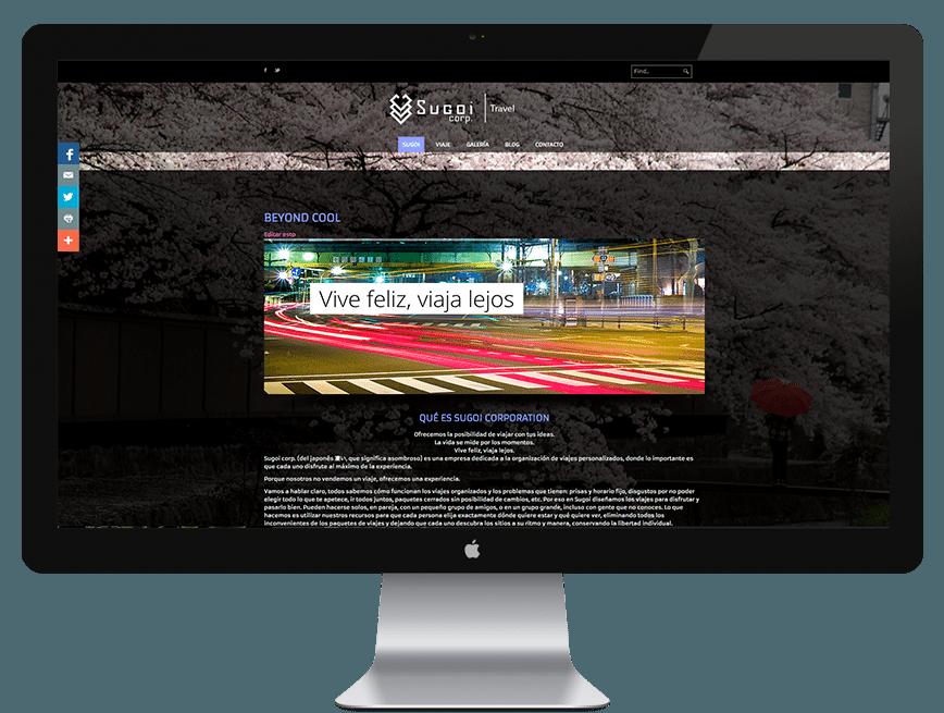 Nuevo proyecto: Página web de Sugoi Corporation