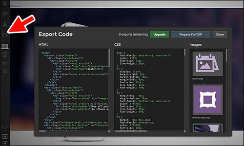 Exportando el código