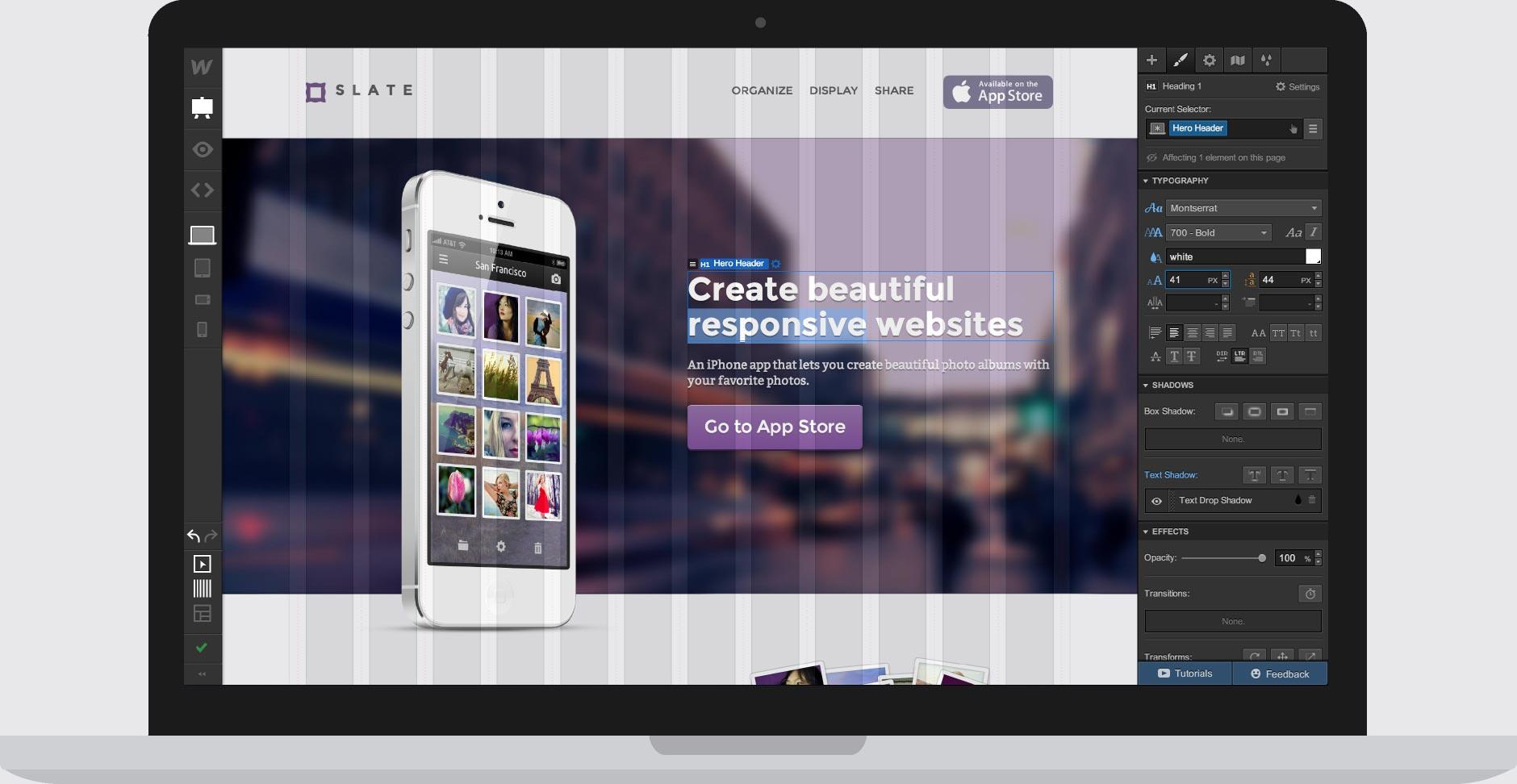 Herramientas de diseño web: Webflow, Edge reflow y Macaw