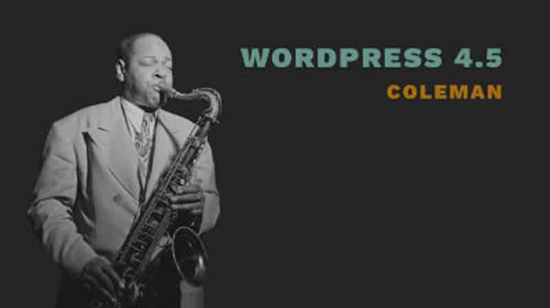 Novedades en la actualización de wordpress a versión 4.5